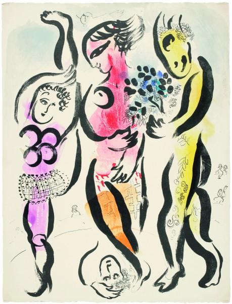 Los_tres_acrobatas_Marc_Chagall_EXPOARTEMADRID