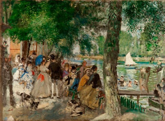 Pierre-Auguste Renoir, Baños en el Sena [La Grenouillère] (1869) © Cortesía Museo Thyssen