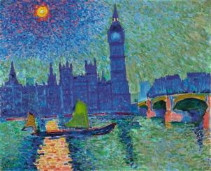 André Derain; Big Ben, Londres (1906) © Cortesía Fundación Mapfre