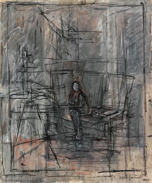 Alberto Giacometti, Isabel en el estudio (1949) © Cortesía Fundación Mapfre