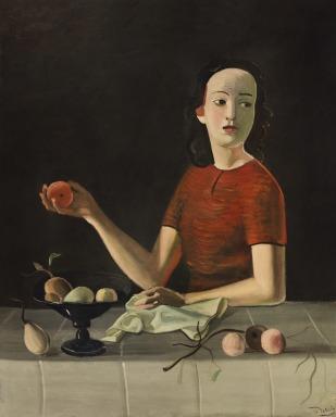 André Derain, Geneviève con manzana (1937-1938) © Cortesía Fundación Mapfre