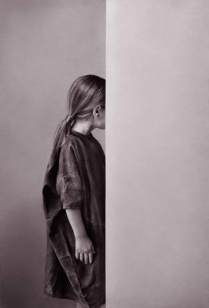 Irene GONZÁLEZ, El instante y la huida (2018). Díptico 1. Conté sobre papel, 112 x 76 cm © Cortesía: Galería silvestre, Madrid