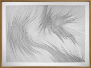 John FRANZEN, Each Line One Breath (2018). Rotulador fino sobre papel, 122 x 162 cm © Cortesía: Yoko Uhoda Gallery, Lieja, Bélgica